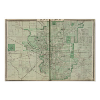 Plan of Indianapolis Poster