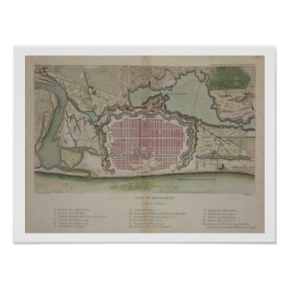 Plan of Pondicherry, from 'Voyage aux Indes et la Poster
