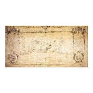 Plan of Siege of the Havana Surrender Aug 12, 1762 Canvas Print