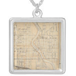 Plan of South Bend with Mishawaka Silver Plated Necklace