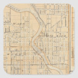 Plan of South Bend with Mishawaka Square Sticker