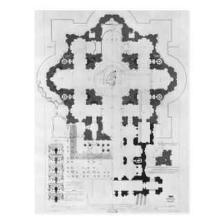 Plan of St. Peter's Basilica Postcard
