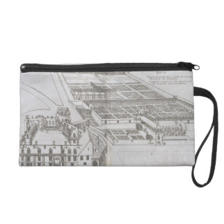 Plan of the enclosed gardens and Chateau de Gaillo Wristlet Clutches