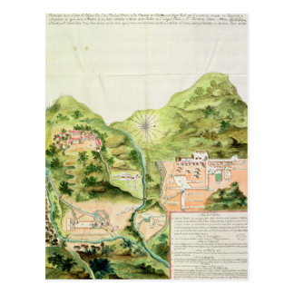 Plan of the Mines of Oaxaca, Mexico, 1785-87 Postcard