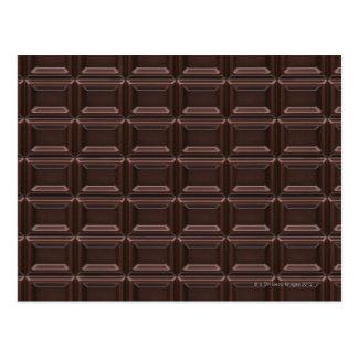 Plan rapproché de barre de chocolat carte postale
