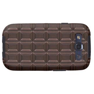 Plan rapproché de barre de chocolat étuis galaxy s3
