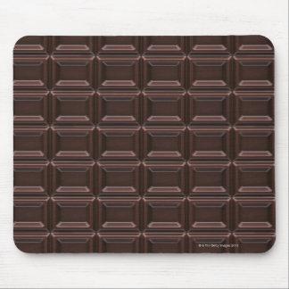 Plan rapproché de barre de chocolat tapis de souris