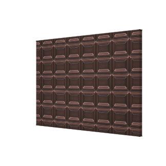 Plan rapproché de barre de chocolat impressions sur toile