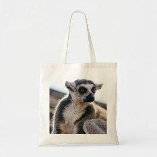 Plan rapproché de portrait de lémur sac fourre-tout