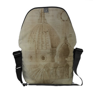 Plan, Section and Elevation of Florence Cathedral, Messenger Bags