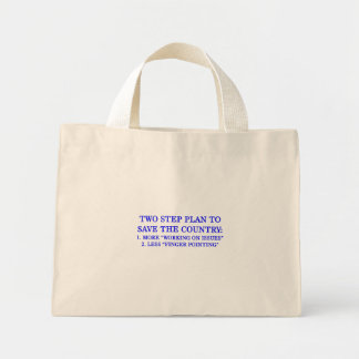 Plan to save the country mini tote bag