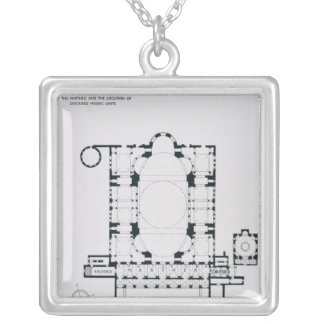 Plan to show the orientation of the narthex silver plated necklace