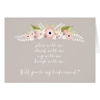 Plan with me Stand with me Floral Spray Card
