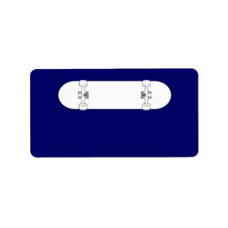 Planche à roulettes 2 étiquettes d'adresse