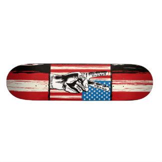 Planche à roulettes américaine de paix planche à roulette customisée