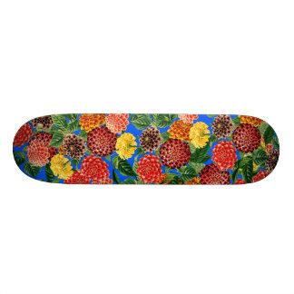 Planche à roulettes botanique florale de fleurs de skateboard 21,6 cm