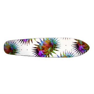 Planche à roulettes colorée abstraite plateaux de planche à roulettes