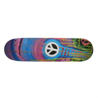 Planche à roulettes de guitare de paix skateboard 21,6 cm