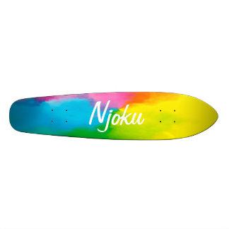 Planche à roulettes de logo de colorant de cravate skateboard 21,6 cm