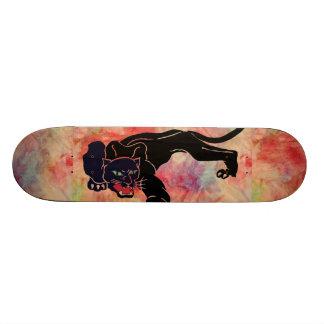 Planche à roulettes de marbre rose de panthère skateboards customisés