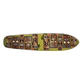 Planche à roulettes de partie de Tiki Plateaux De Skateboards Customisés