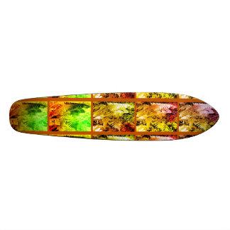 Planche à roulettes de série de feuille de fougère skateboards customisés