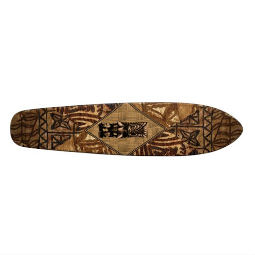 Planche à roulettes de Tiki de Tapa Skateoard Personnalisé