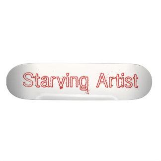 Planche à roulettes drôle d'artiste affamé planches à roulettes customisées