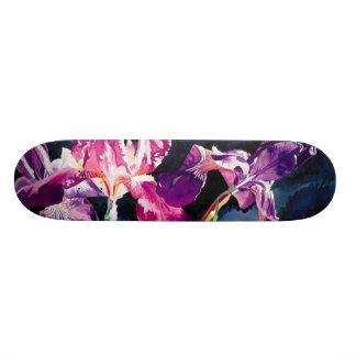 Planche à roulettes florale de conception d'aquare skateboard 21,6 cm