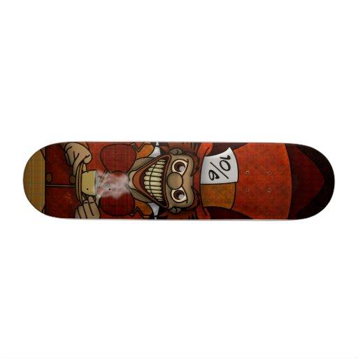 Planche à roulettes folle de chapelier skateboards customisés