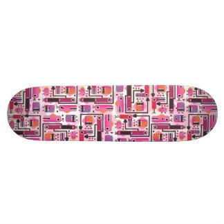 Planche à roulettes fraîche avec les graphiques dr plateaux de skateboards customisés