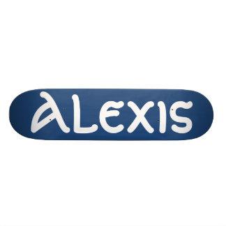 Planche à roulettes nommée d'Alexis Skateboards