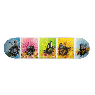 Planche à roulettes pour des filles skateboard old school  21,6 cm