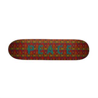 Planche à roulettes sauvage de ~ de signes de paix skateboard 20,6 cm