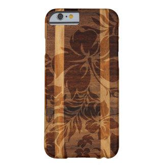 Planche de surf en bois de Faux de plage de Keokea Coque iPhone 6 Barely There