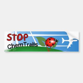Plane Aerosol Chemtrails Lady Bug Leaf Bumper Sticker