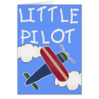 Plane and Clouds Little Pilot Card