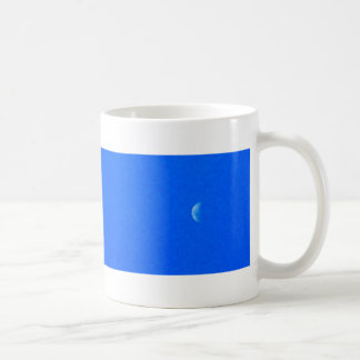 plane and moon coffee mug