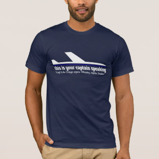 Plane captain speaking radiotelephony Getaway Tee