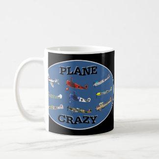 PLANE CRAZY CLASSIC WHITE COFFEE MUG