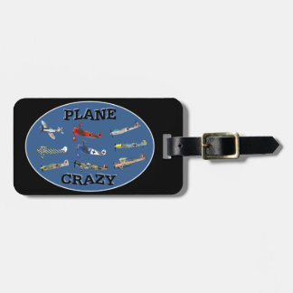 PLANE CRAZY LUGGAGE TAG