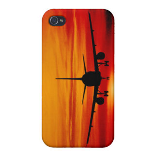 Plane in Sunset Case For The iPhone 4