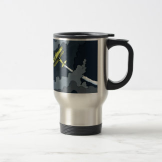 plane in the clouds 15 oz stainless steel travel mug
