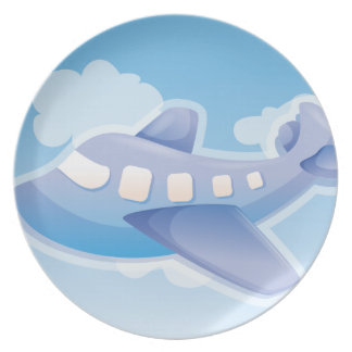 Plane in The Sky Party Plates
