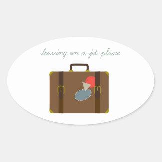 Plane Luggage Oval Sticker