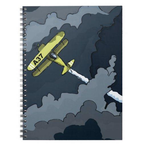 plane note books