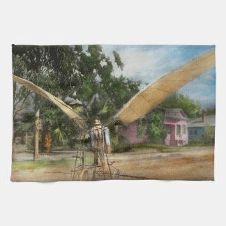 Plane - Odd - The early bird 1910 Kitchen Towel