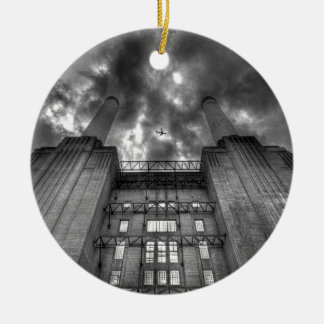 Plane over Battersea Power Station, London Ceramic Ornament