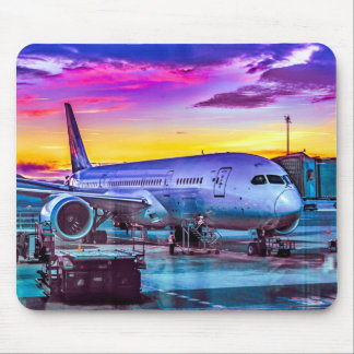 Plane Parked at Barajas Airport, Madrid, Spain Mouse Pad