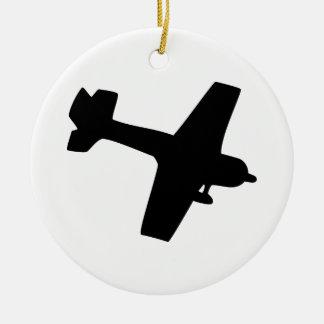 Plane Silhouette Ceramic Ornament